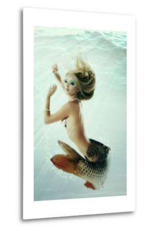 Mermaid Beautiful Magic Underwater Mythology Being Original Photo Compilation-khorzhevska-Metal Print