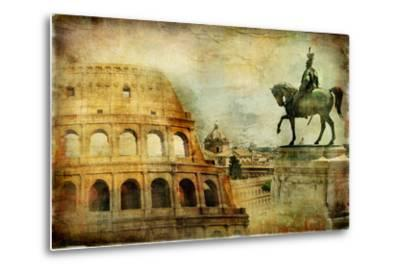 Great Rome - Artwork In Painting Style-Maugli-l-Metal Print