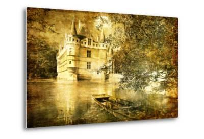 Romantic Castle - Artistic Toned Picture In Retro Style-Maugli-l-Metal Print