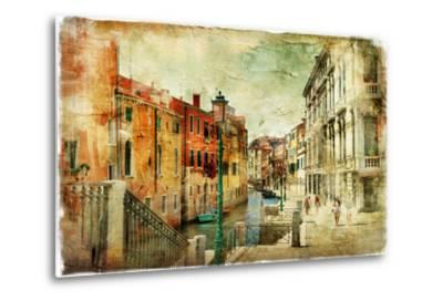 Romantic Venice - Artwork In Painting Style-Maugli-l-Metal Print