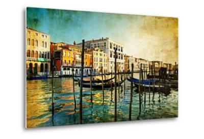 Amazing Venice - Artwork In Painting Style-Maugli-l-Metal Print