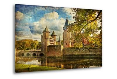 Autumn Castle - Artwork In Painting Style-Maugli-l-Metal Print
