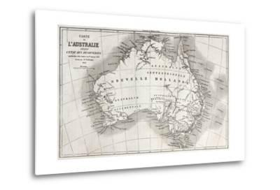 Australia Old Map-marzolino-Metal Print