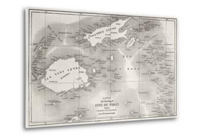 Old Map Of Fiji Islands-marzolino-Metal Print