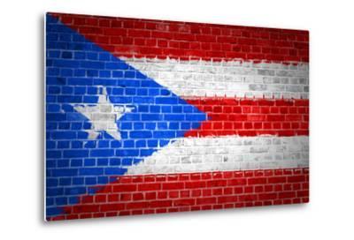 Brick Wall Puerto Rico-Tonygers-Metal Print