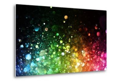 Rainbow Of Lights-SSilver-Metal Print