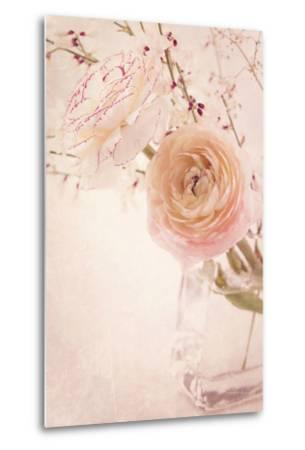 Ranunculus Flowers in a Vase-egal-Metal Print