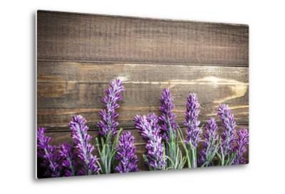 Lavender-Sea Wave-Metal Print