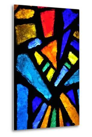 Stained Glass at the Church of the Annunciation- taln-Metal Print