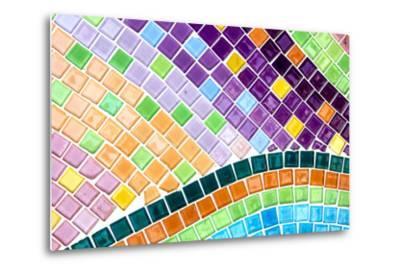 Tile Mosaic Pattern- thiroil-Metal Print