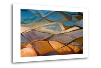 Abstract Oil Painting- Indric-Metal Print