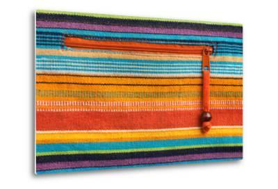 Colorful Fabric Texture With Zipper-Ultrapro-Metal Print