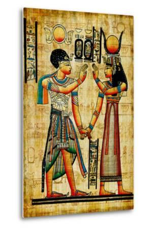 Ancient Egyptian Papyrus-Maugli-l-Metal Print