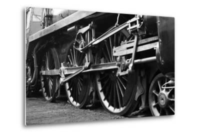 Steam Train Wheels-neillang-Metal Print