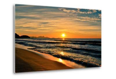 Beautiful Sunrise In The Beach-dabldy-Metal Print
