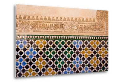 Mosaic At The Alhambra, Granada, Spain-neirfy-Metal Print