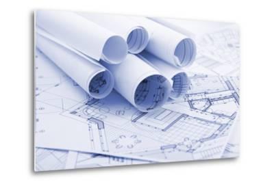 Rolls of Architecture Blueprints--Vladimir--Metal Print