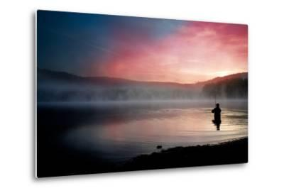 Fishing Early In The Morning-Val Thoermer-Metal Print