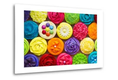 Cupcakes-Ruth Black-Metal Print
