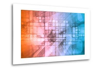 Cybernetics Mechanical Design as a Blueprints Art-kentoh-Metal Print