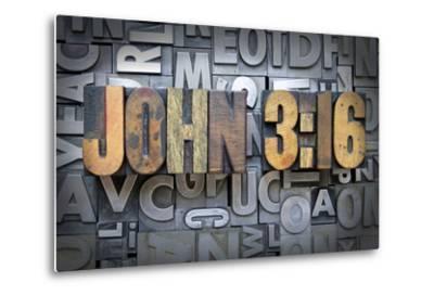John 3:16-enterlinedesign-Metal Print