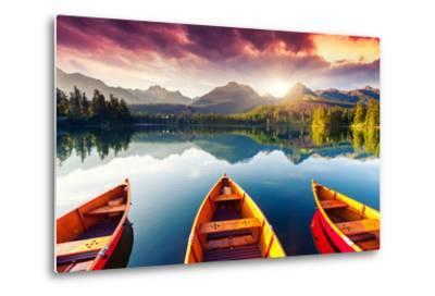 Mountain Lake In National Park High Tatra-Leonid Tit-Metal Print