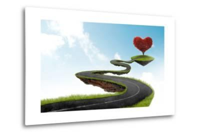 The Road To Heart Tree-jordygraph-Metal Print