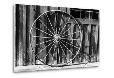 Wagon Wheel Background-Schub.Photo-Metal Print