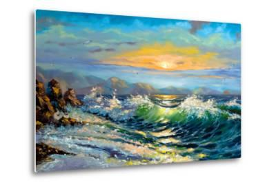 The Storm Sea On A Decline-balaikin2009-Metal Print