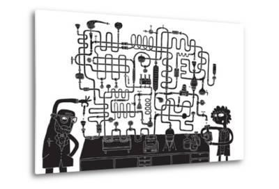 Laboratory Maze Game-vook-Metal Print