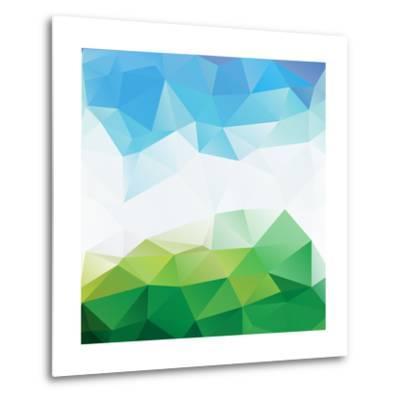 Colorful Mosaic Triangle Background-Rasveta-Metal Print