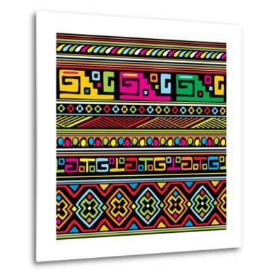 African Pattern Color- valeriya-Metal Print