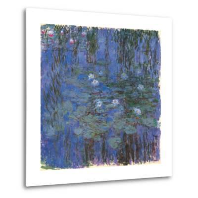 Blue Water Lilies-Claude Monet-Metal Print