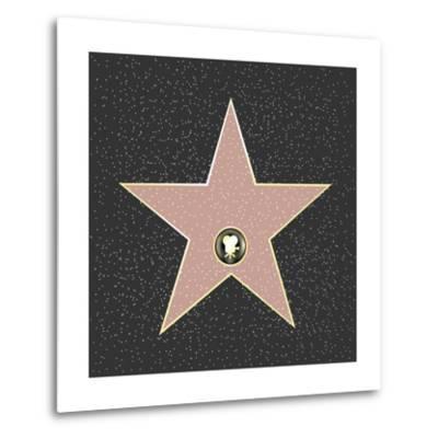Walk Of Fame Type Star-barbaliss-Metal Print