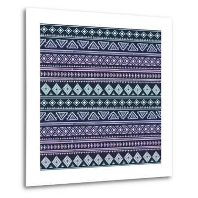 Abstract Tribal Pattern-transiastock-Metal Print
