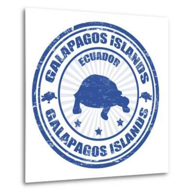 Galapagos Islands Stamp-radubalint-Metal Print