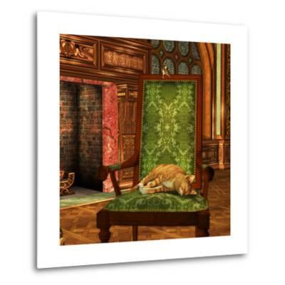 Cat And Mouse At Home-Atelier Sommerland-Metal Print