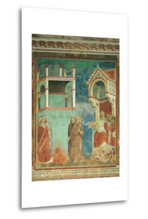 St. Francis before the Sultan-Giotto di Bondone-Metal Print