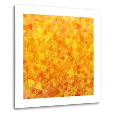 Bright Orange Scattered Triangles Background-Enka Parmur-Metal Print