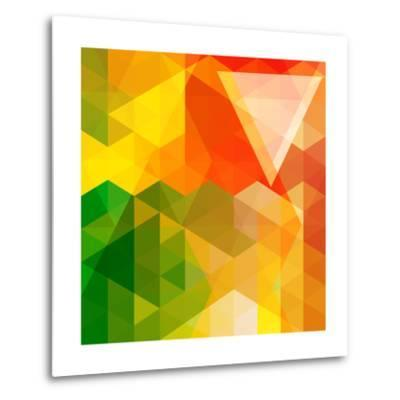 Colorful Mosaic Background Made Of Triangle Shapes-OlgaYakovenko-Metal Print