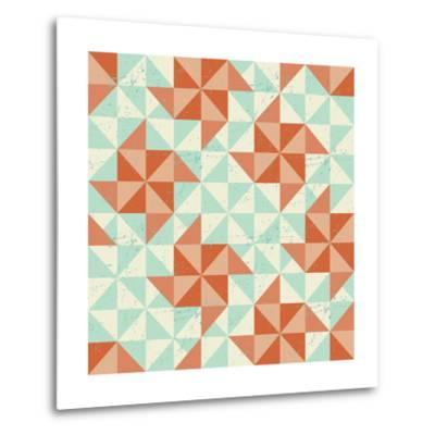 Seamless Geometric Pattern With Origami Elements-incomible-Metal Print