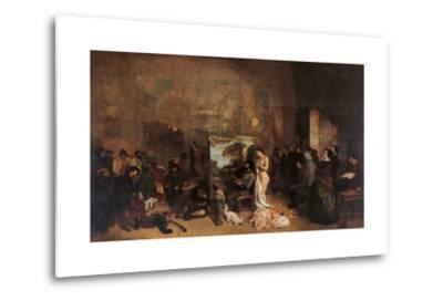 Artist's Studio-Gustave Courbet-Metal Print