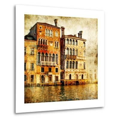 Traditional Venice - Artwork In Painting Style-Maugli-l-Metal Print