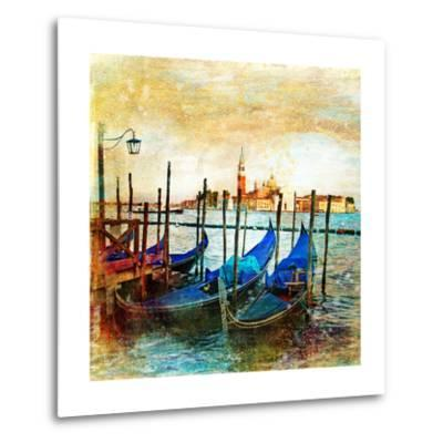 Mystery Of Venice - Artwork In Painting Style-Maugli-l-Metal Print