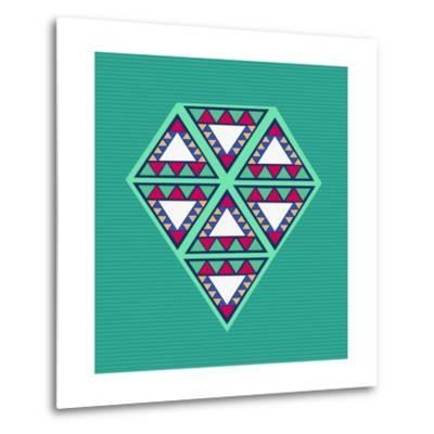 Geometric Diamond Composition-cienpies-Metal Print