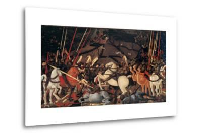 Rout of St. Roman (Battle of St Roman),by Paolo Uccello, c. 1436-1439 . Uffizi Gallery, Florence-Paolo Uccello-Metal Print