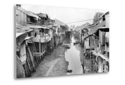 Scene of Squalid Living Area in Village-Nat Gibson-Metal Print