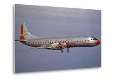 American Airlines Lockheed Electra Turbo-Prop 1966--Metal Print