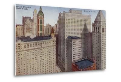 Financial District, New York City, USA--Metal Print