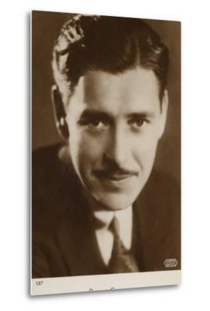 Ronald Colman, English Actor and Film Star--Metal Print